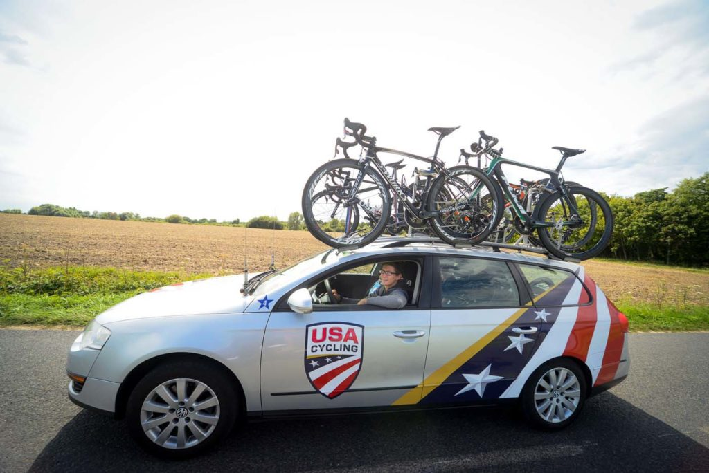 Nate directs the USA U23 National Team at the Tour de l'Avenir