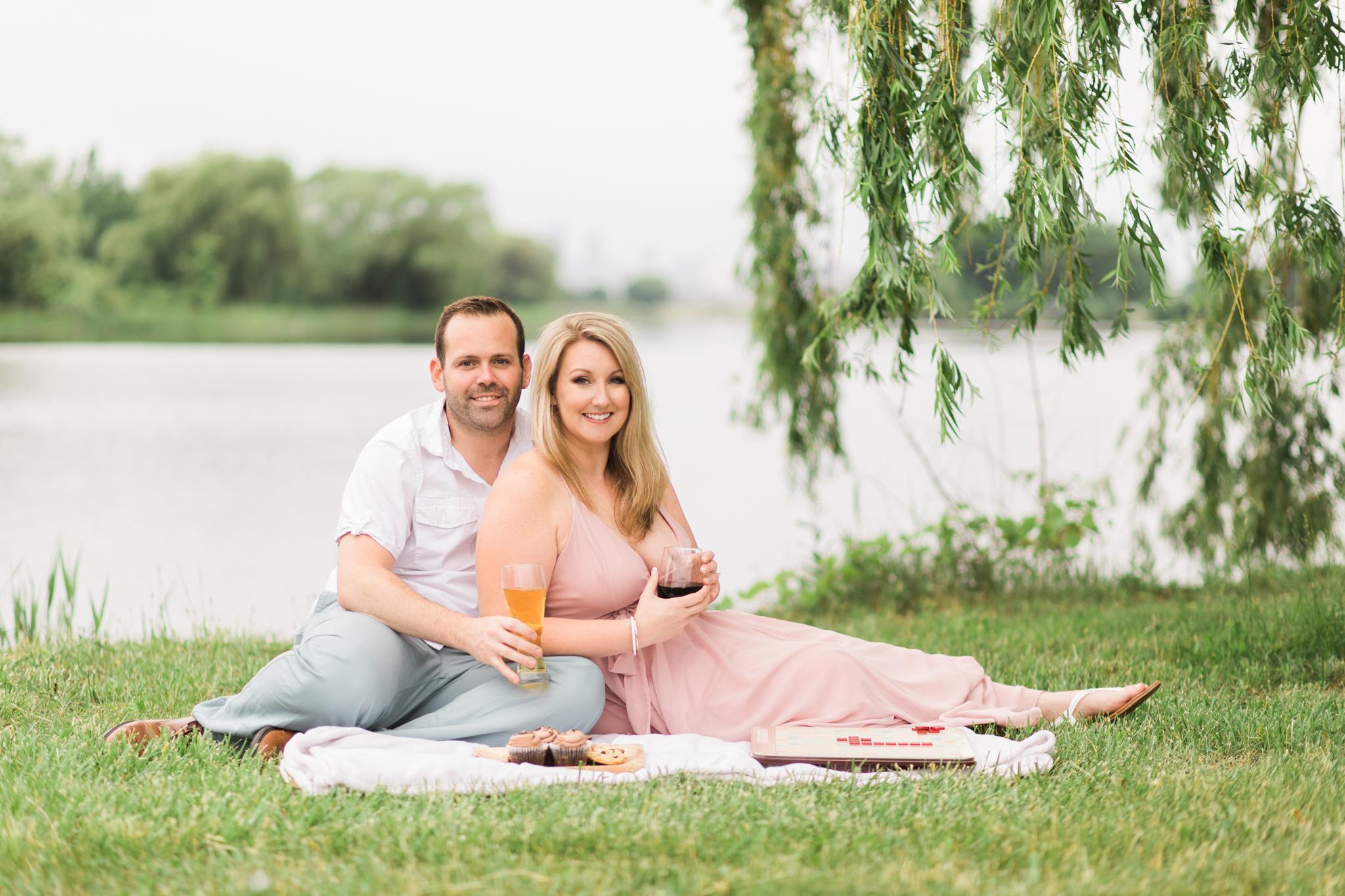 detroit belle isle engagement photos session