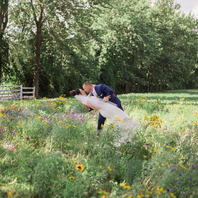 Windsor Wild flower field wedding