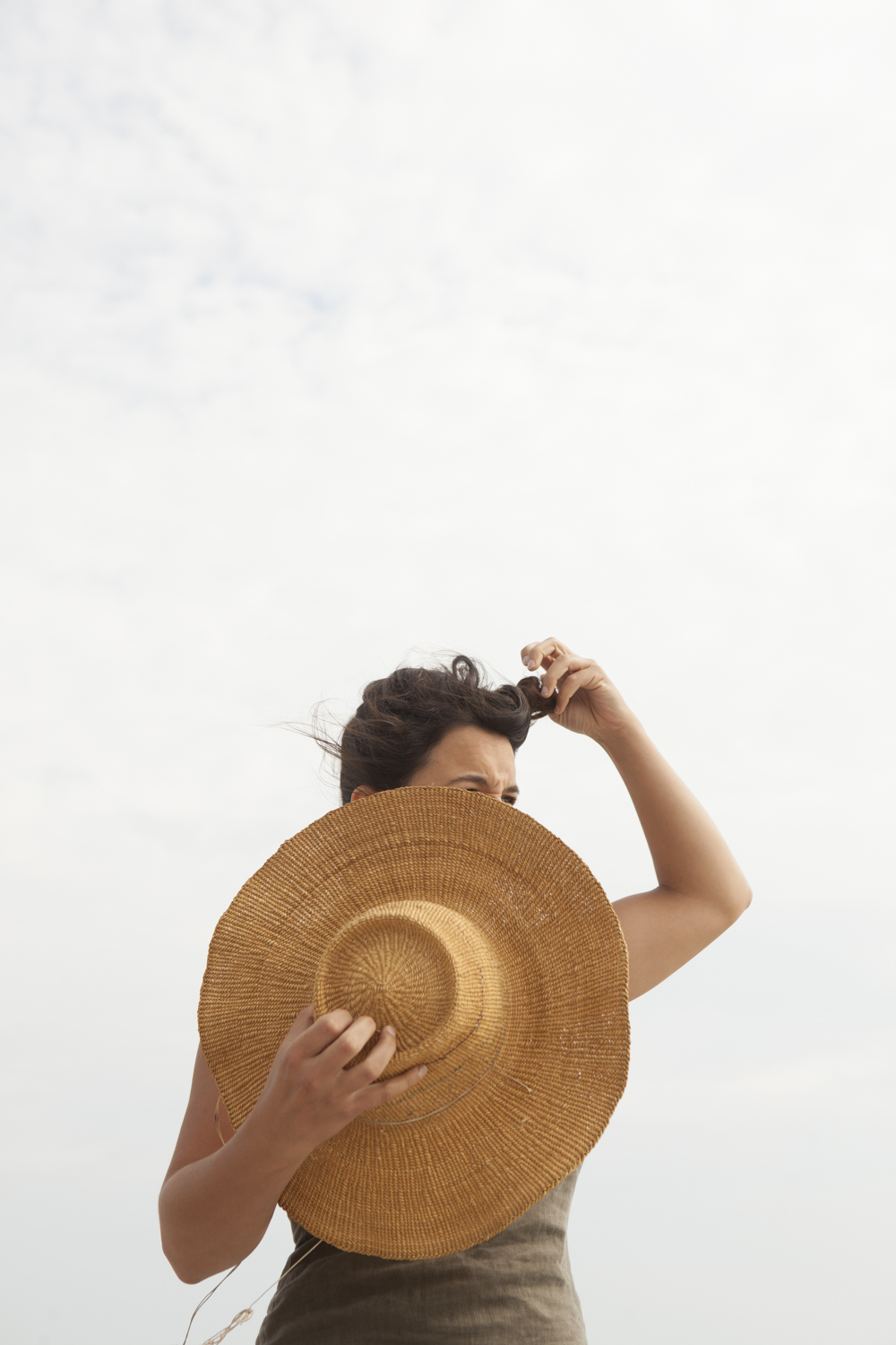 Looking back on summer.   Meg ( of Farrell and Co. ) at the beach.   © Greta Rybus