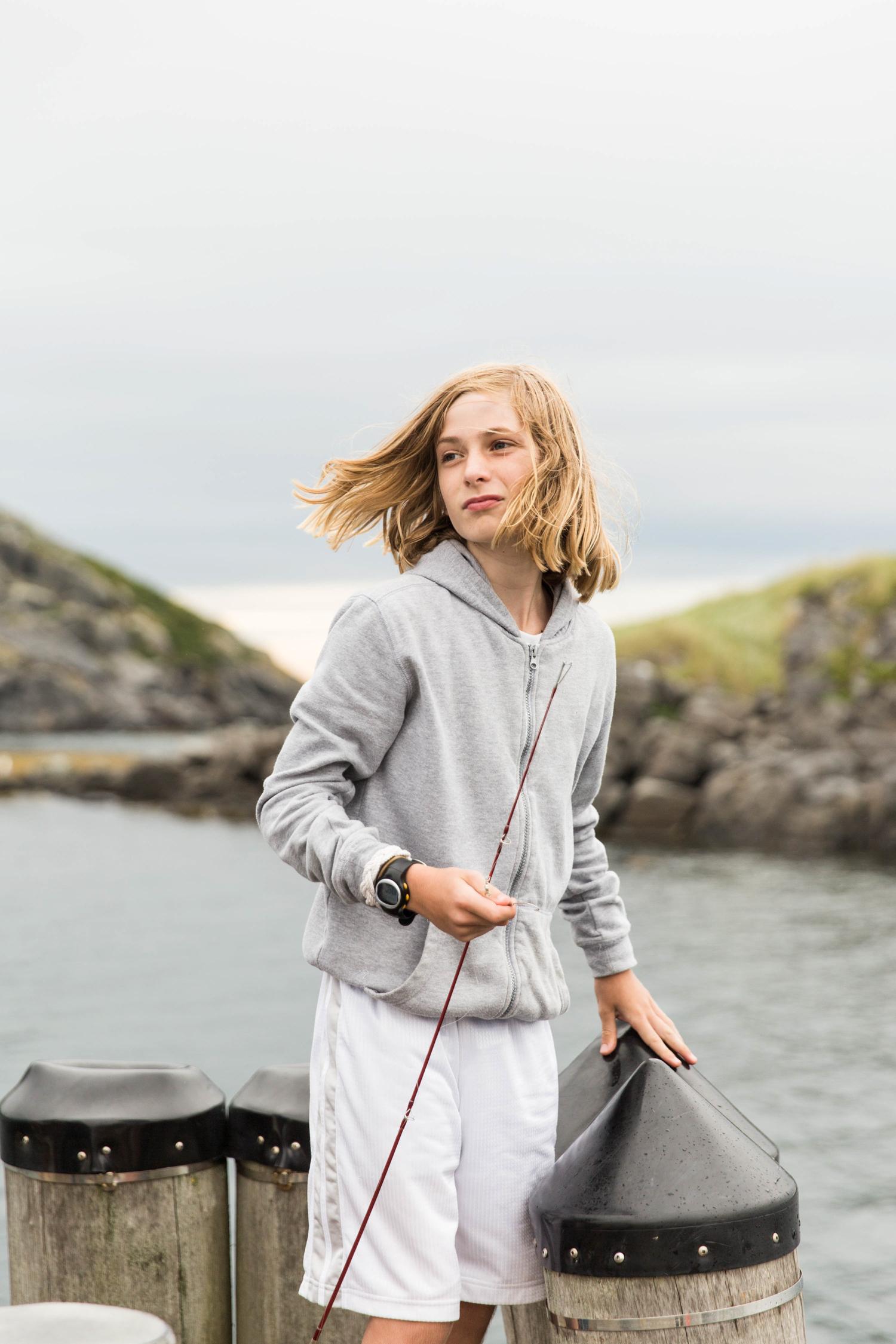 Boy fishing- Monhegan Island