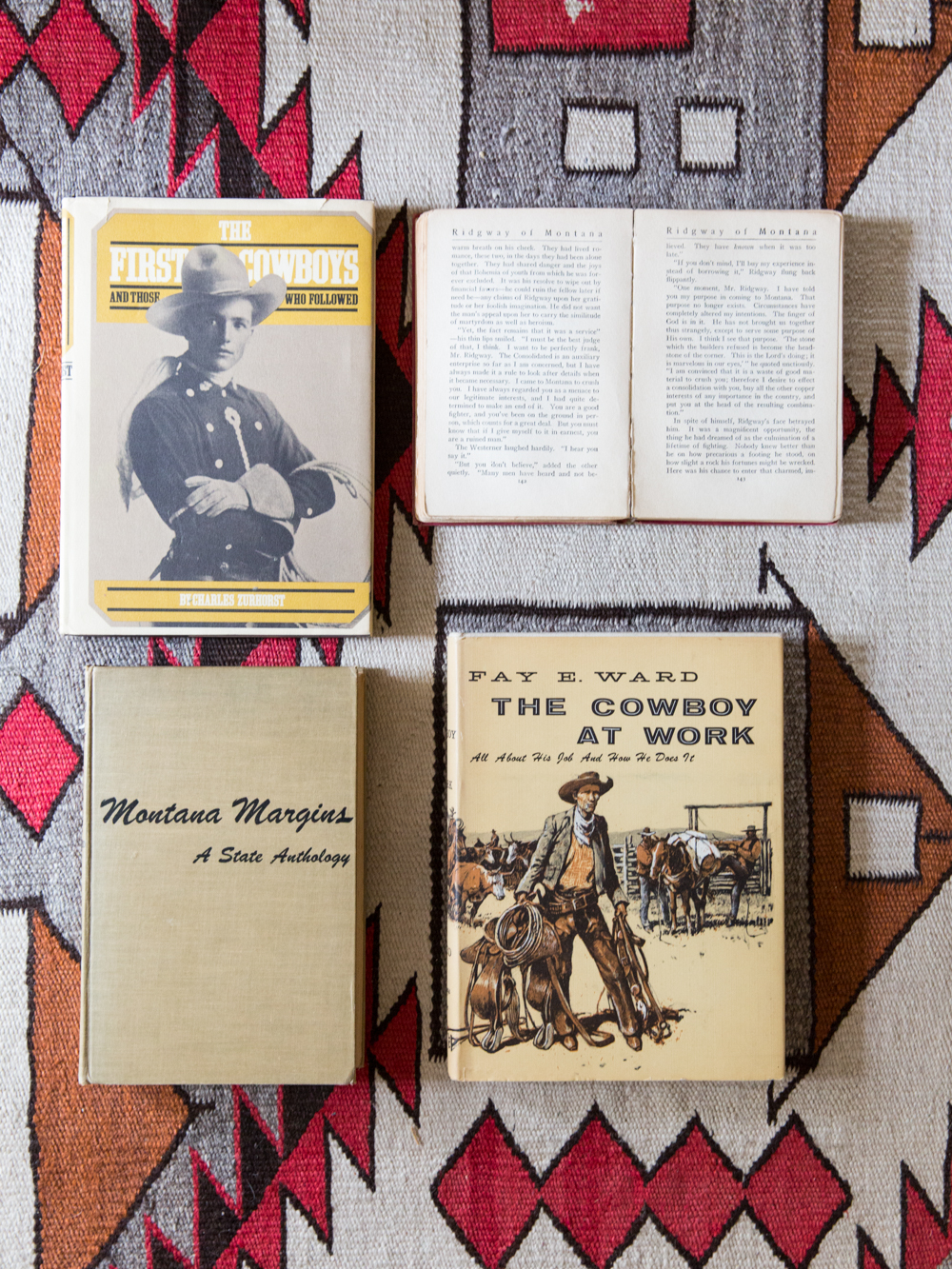 """My mother collected Montana literature. That's why there are so many books about cowboys. And, we used to live on a ranch!"" -Jane Rybus"