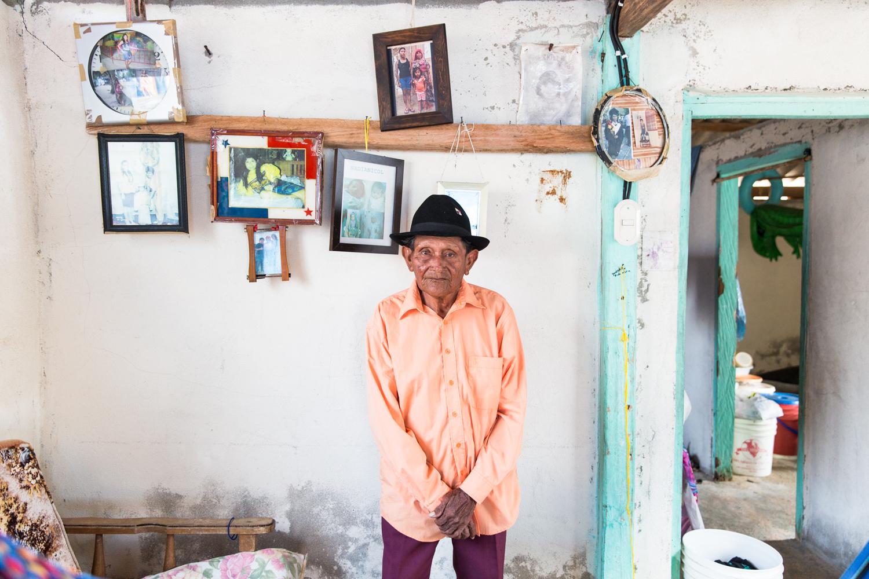 Saila Leonidas Perez in his home on Coetupu.
