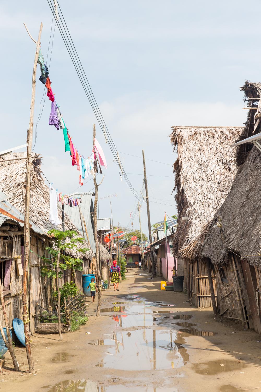 The streets of Gardi Subdub after a light rain.