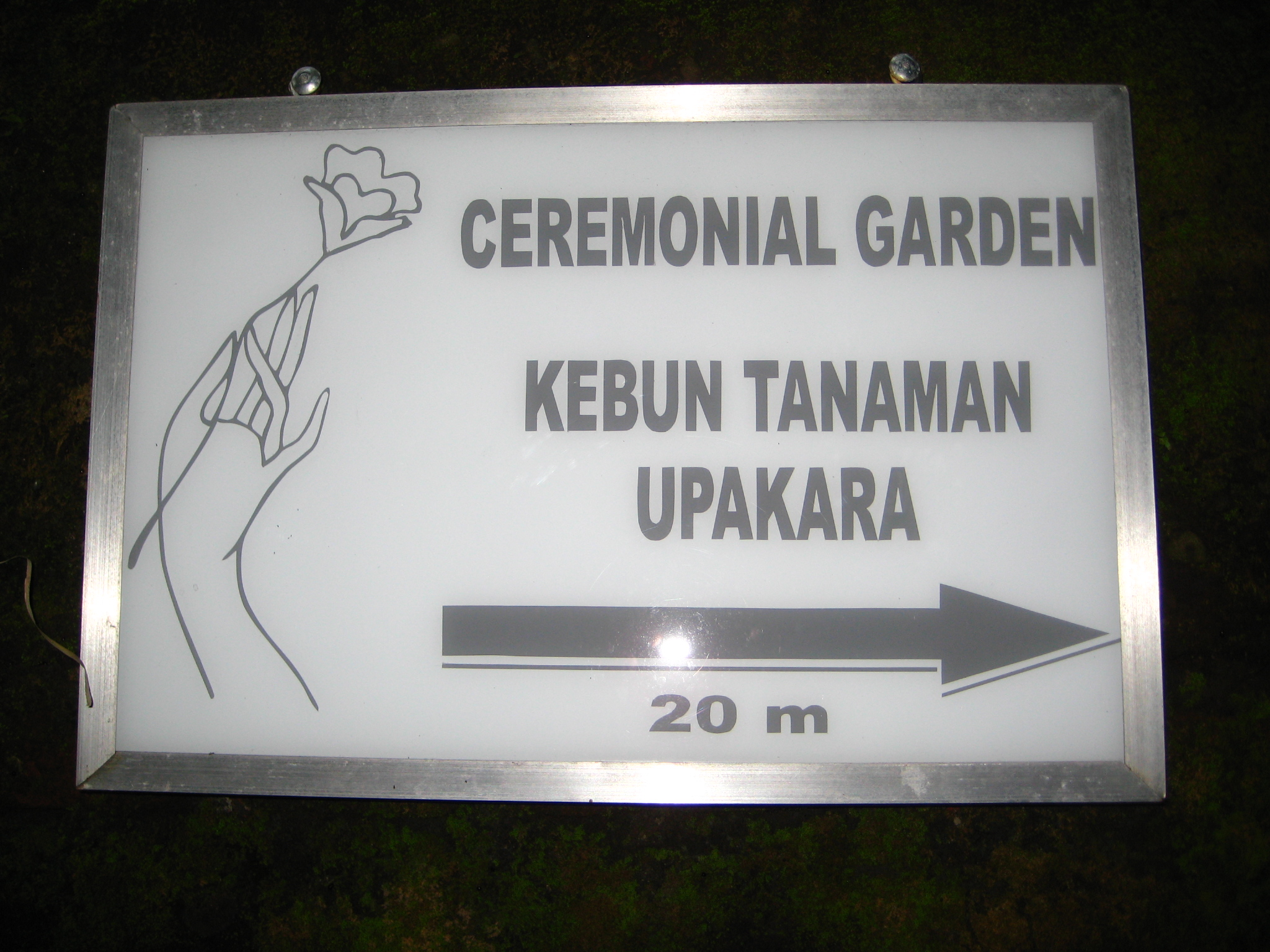Sign ceremonial garden