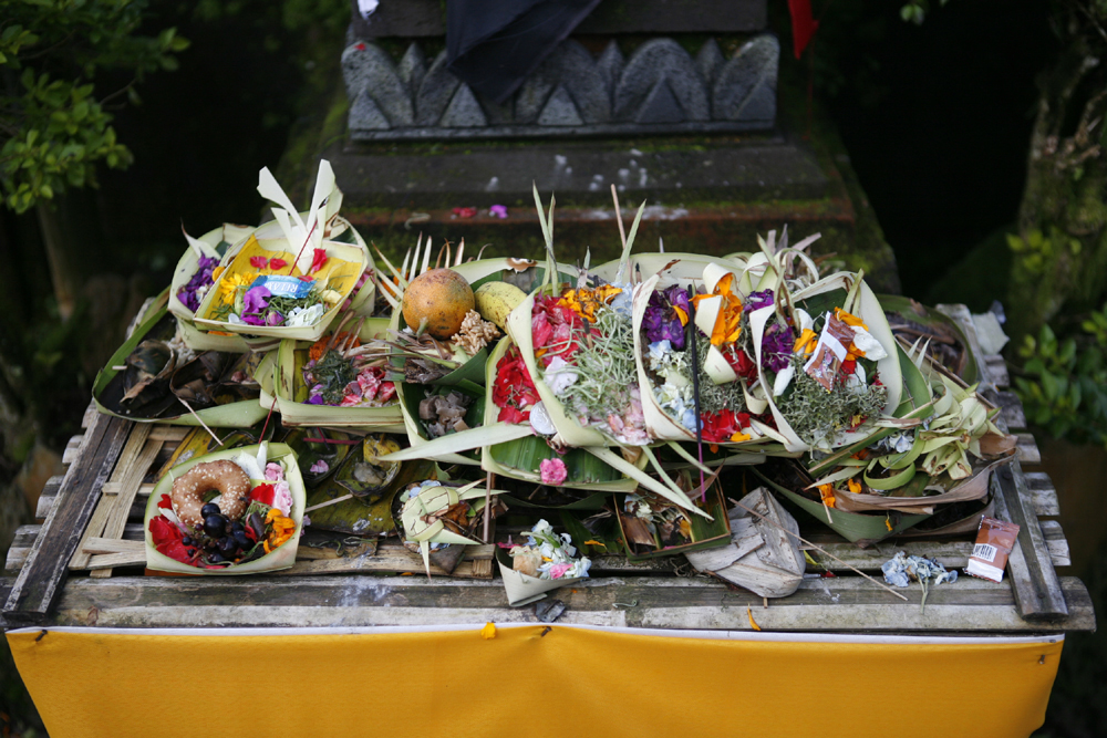 Various offerings presented throughout the ceremony