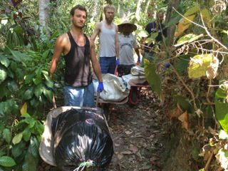 Cleaning the river at Jiwa Damai in Bali