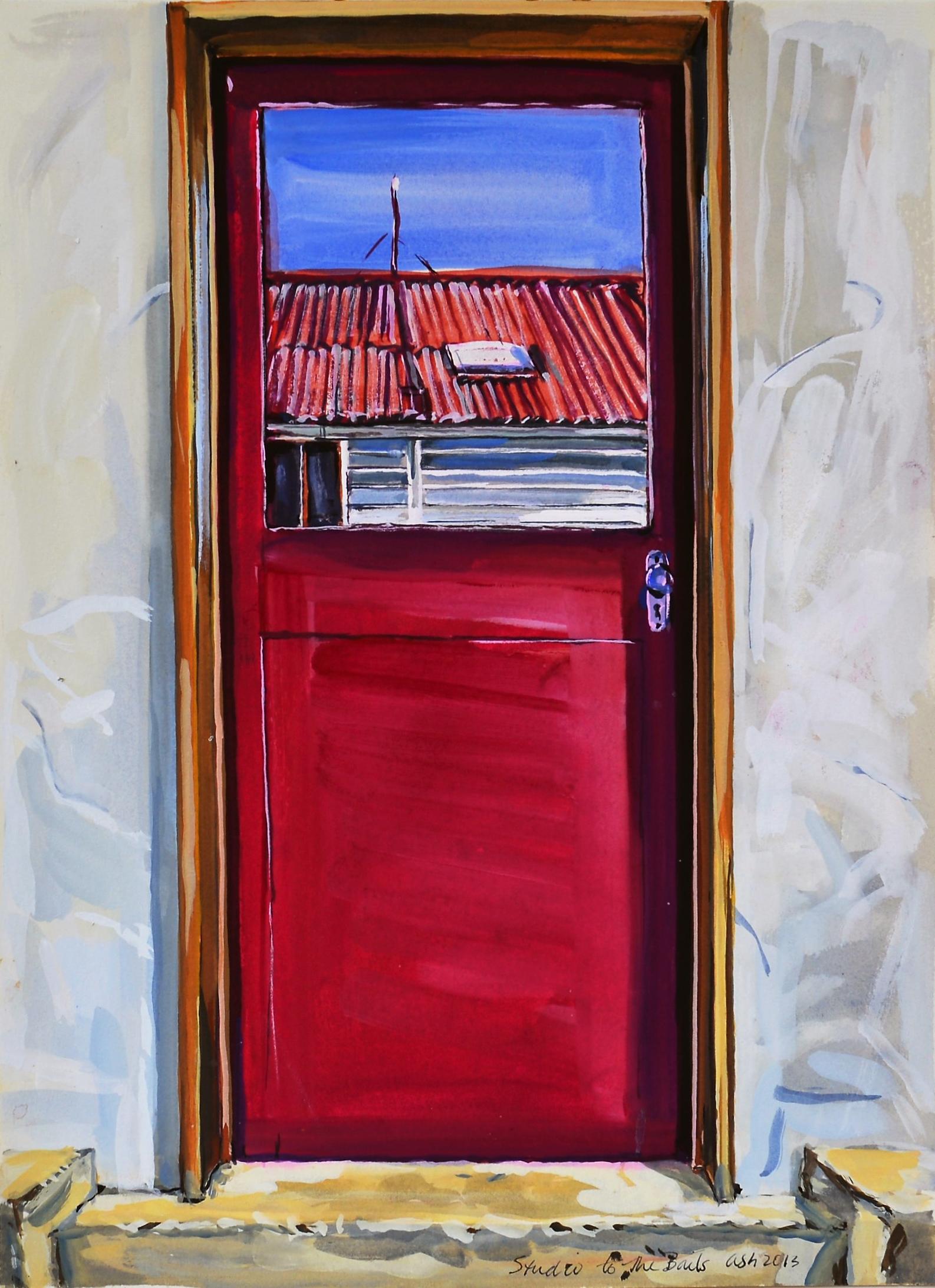 Studio Door (to Bails) , 2013, Guache on Paper
