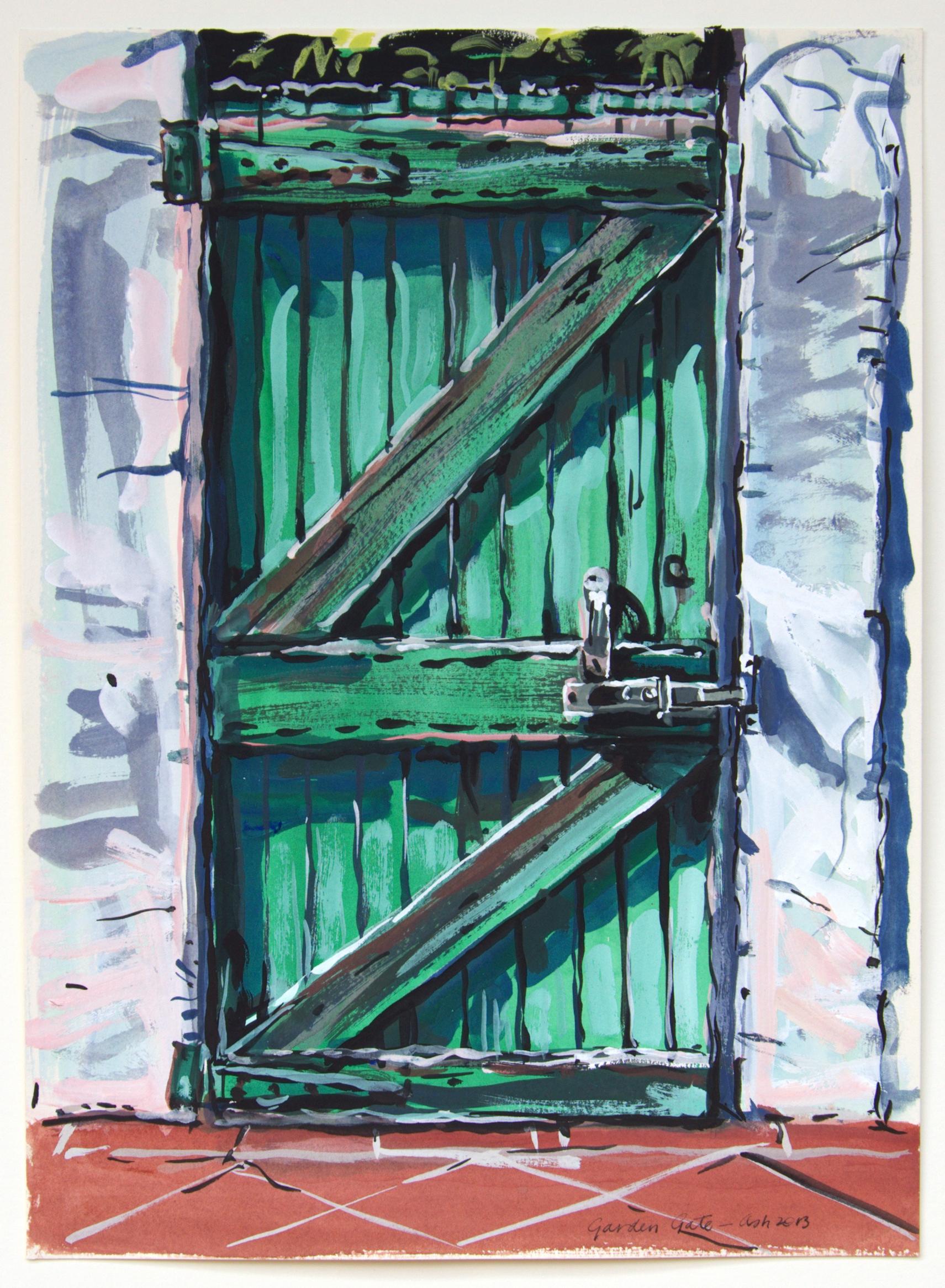 Garden Gate , 2013, gouache on paper