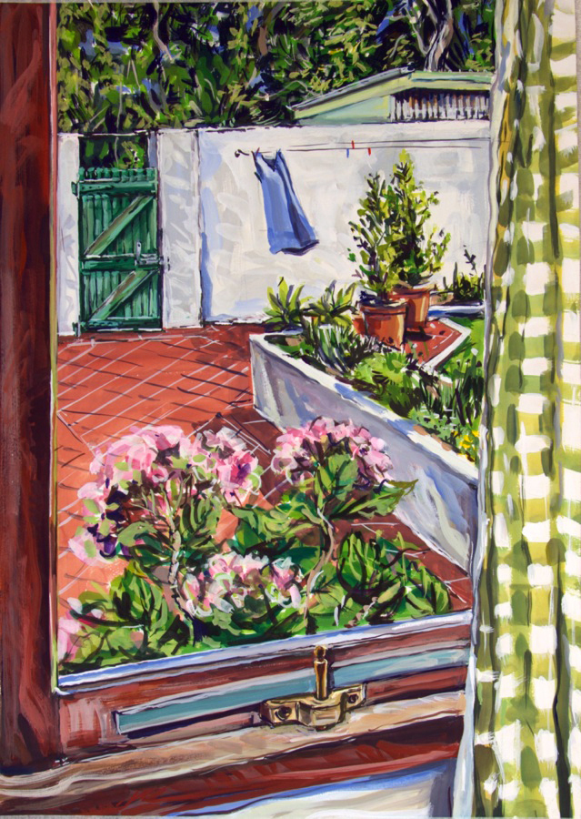 Kitchen to Green Gate 2 , 2013, gouache on paper