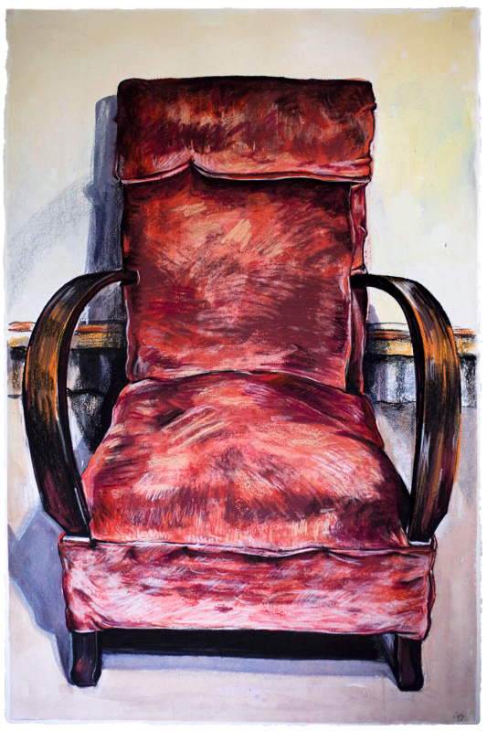 Rose Chair ,  2012, gouache on paper