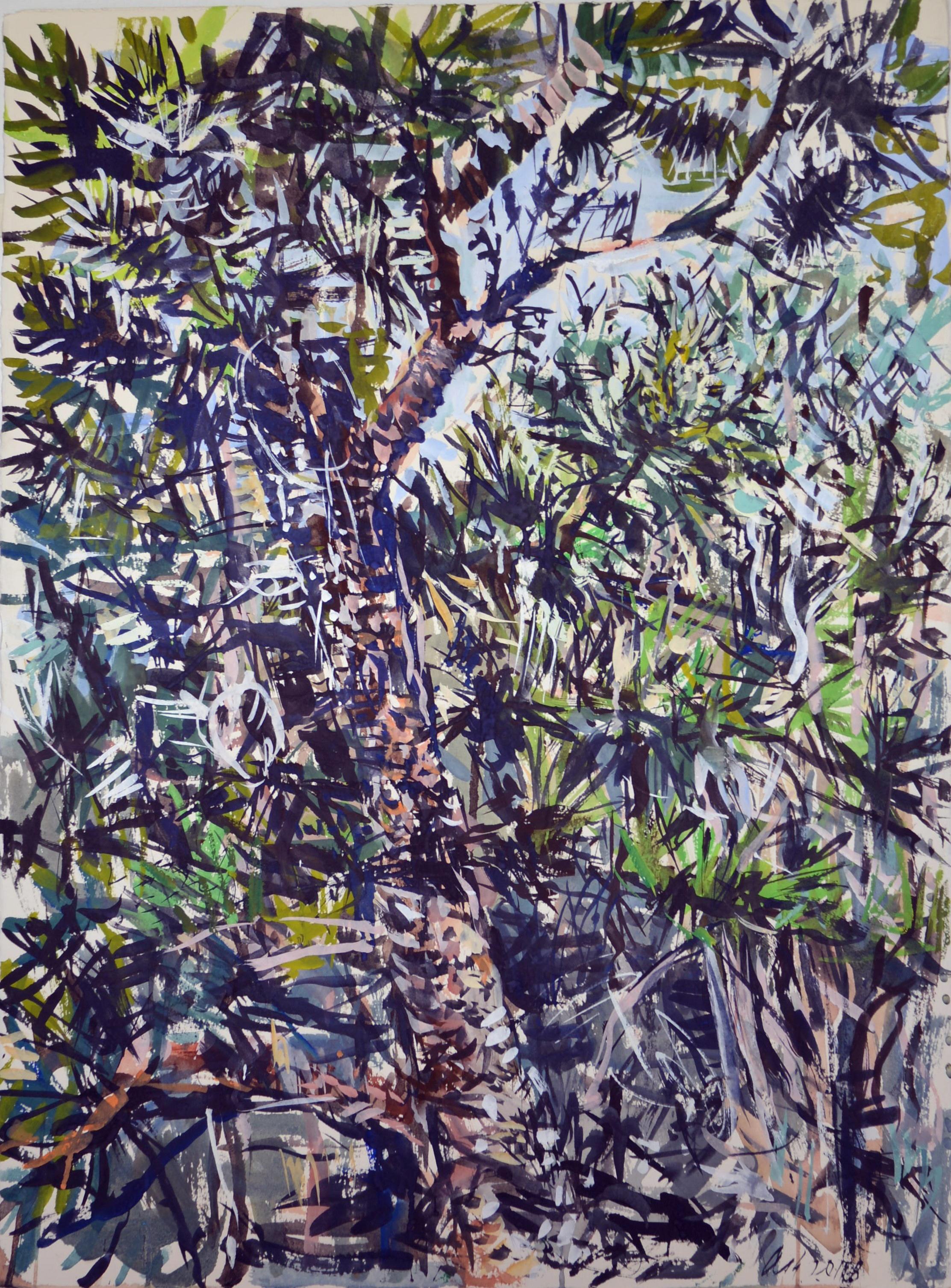 Wallum Landscape 2 (Kathleen McArthur Reserve) 2018 gouache on rag paper 78 x 57cm