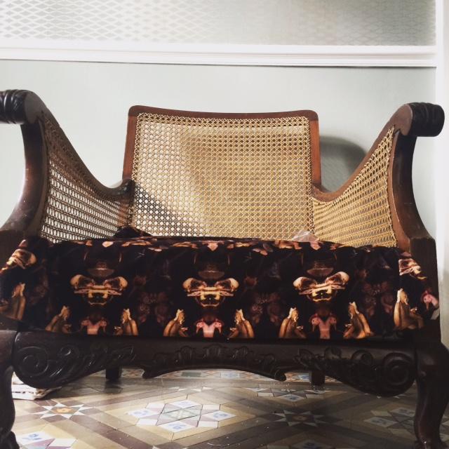 The Reader velvet fabric £120 per m  www.blackpop.co .uk