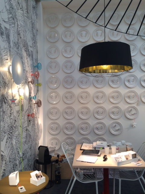Walls have ears display by  Petit Friture  at Decorex International