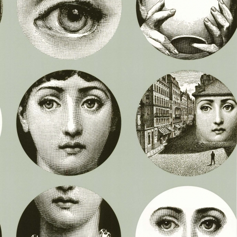Fornasetti wallpaper £299  www.designerwallpapers.co.uk