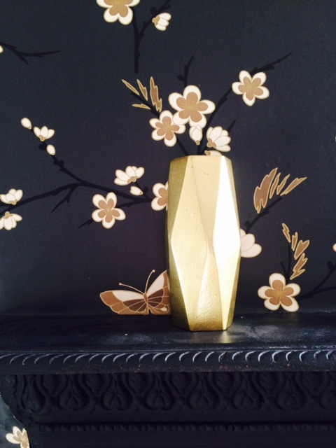 Gold vase  www.theotherduckling.com