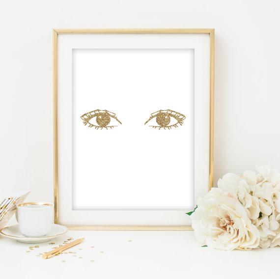Glittering eyes poster  www.etsy.com