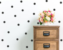 Polka dot wall decals £8.42 www.etsy.co.uk