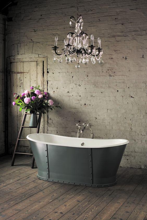 Grey steel tub by Aston Matthews