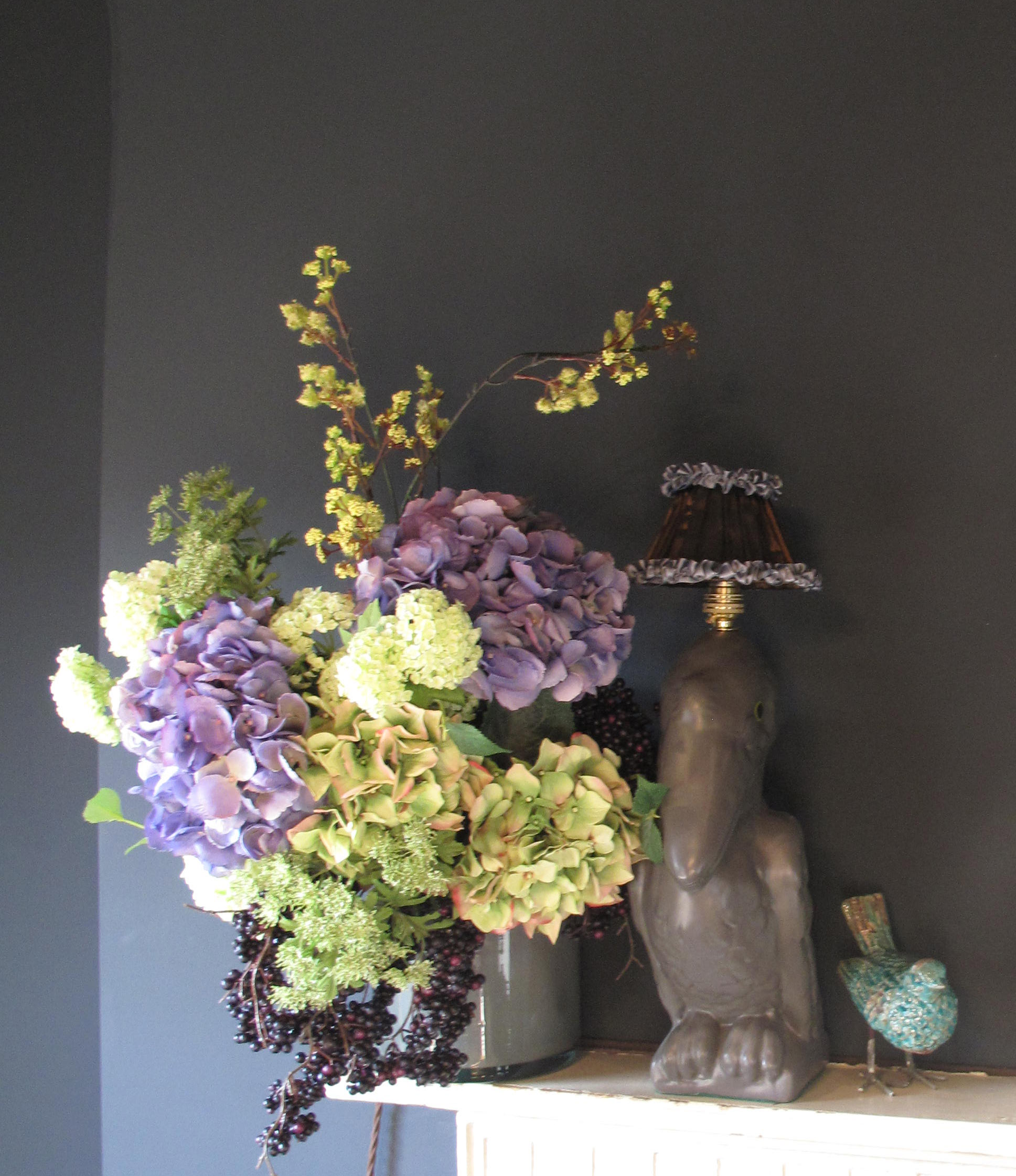 Faux blooms: Bouquets available from £18.50 from  www.abigailahern.com