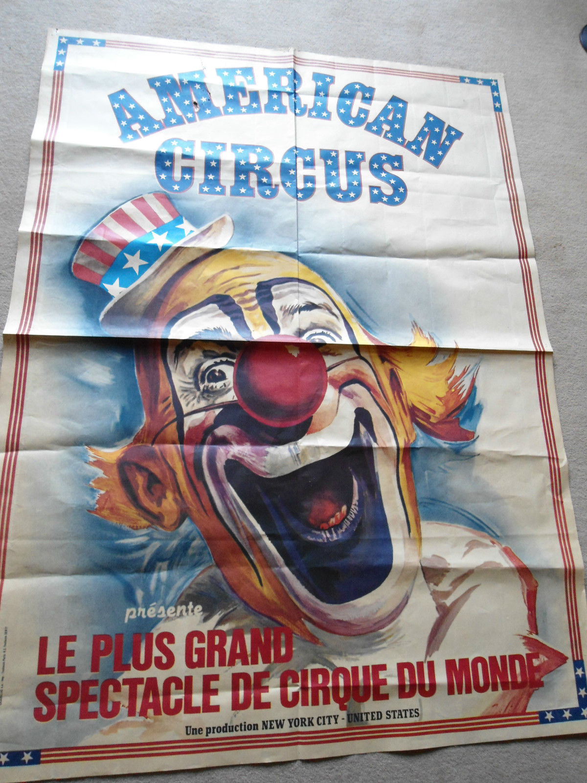 Vintage American Circus Poster £150  www.ebay.co.uk