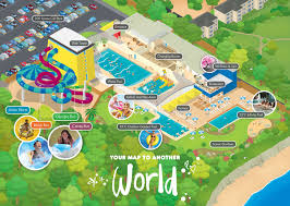 A map of the brnad spanking new 14 million pound Alpamere water park in North Bay, Scarborough