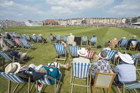 Good old fashioned stripey deckchair fun