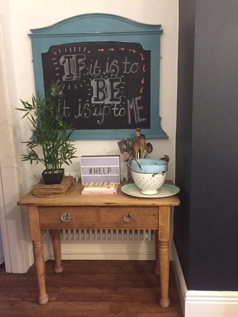 My homemade blackboard