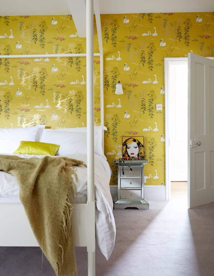 Swans wallpaper by Nina Campbell available from  Rockett St George