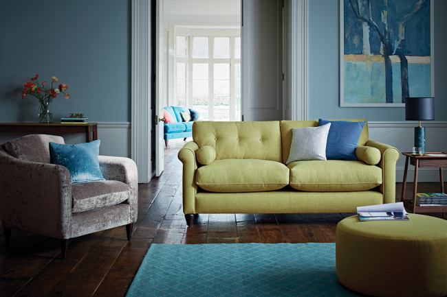 Phoebe Sofa and George Armchair from  The Lounge Co.
