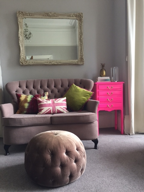 Neon pink music chest currently making its presence felt in my lounge