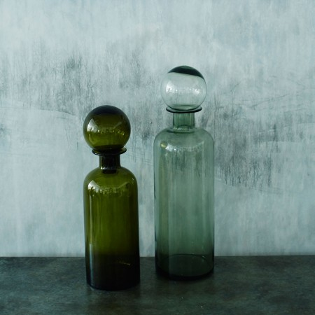 Vintage style green bottle with stopper  www.grahamandgreen.co.uk
