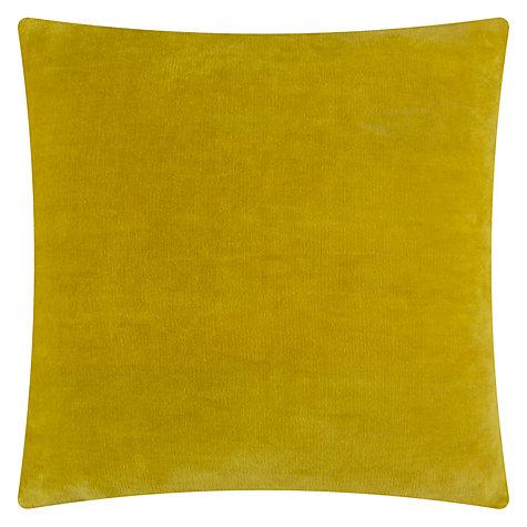 Sulphur plain velvet cushion, £25 John Lewis