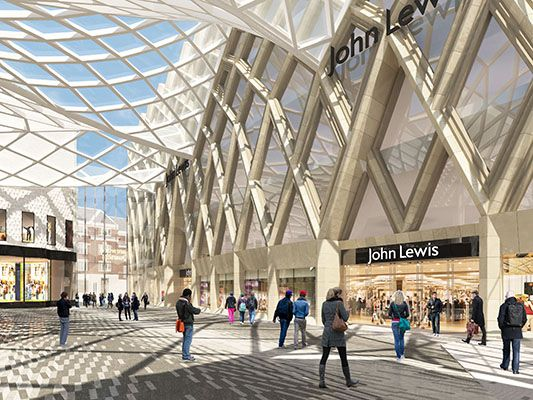 Artist impression of John Lewis in the new  Victoria Gate  shopping complex, Leeds