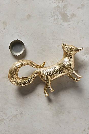 Brass fox bottle opener £14  Anthropologie