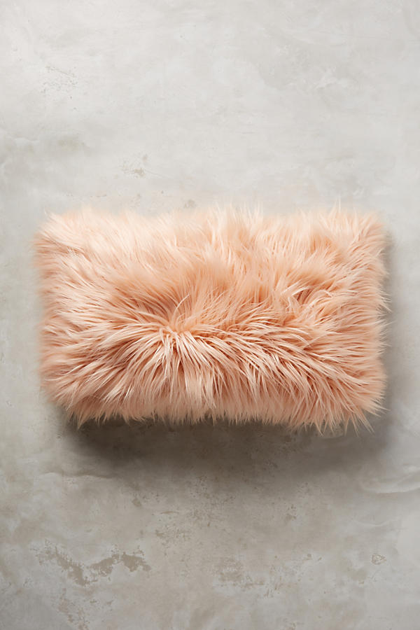 Chroma Faux Fur cushion £45  Anthropologie