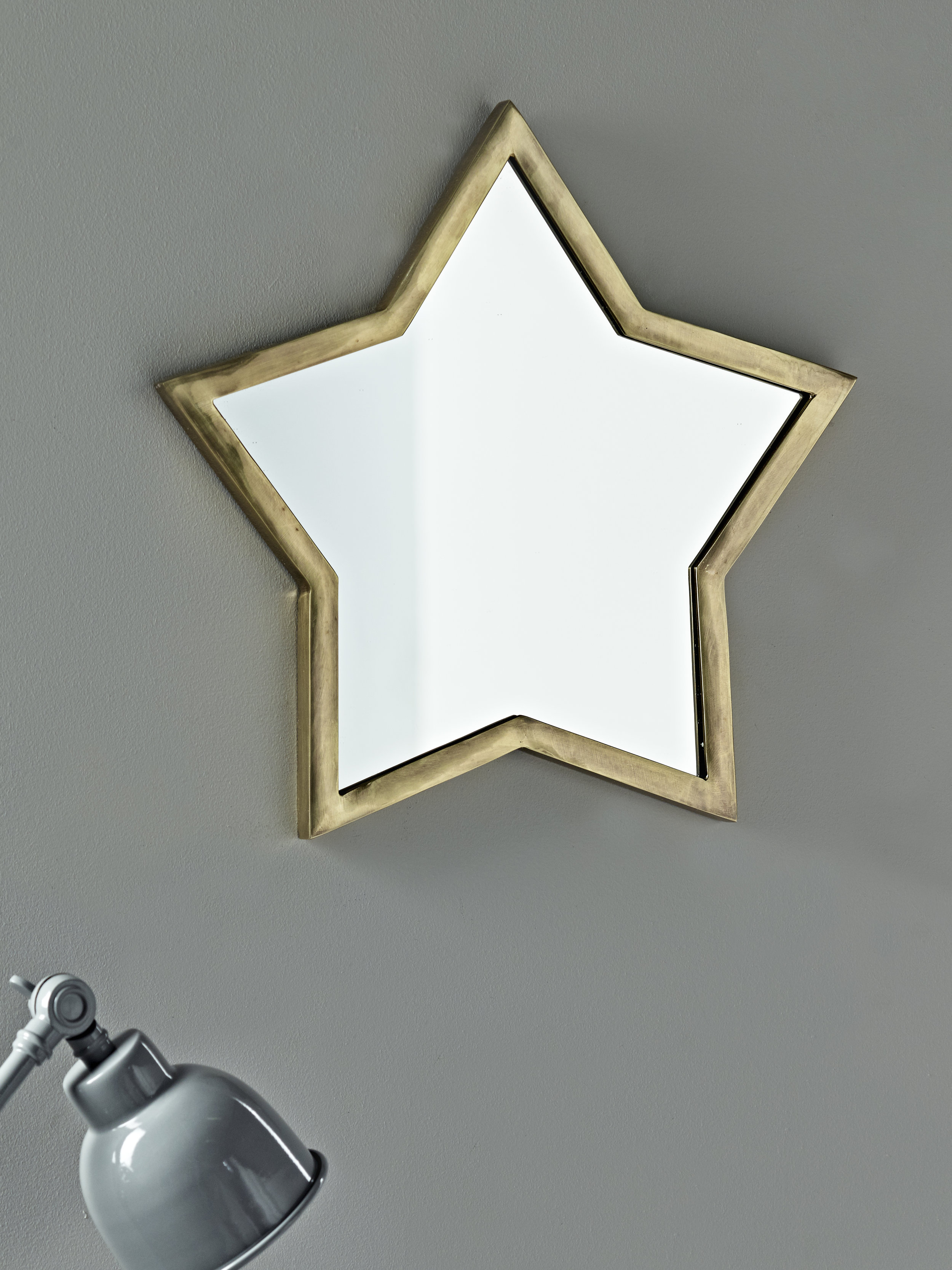 Brass star mirror £80  Cox and Cox