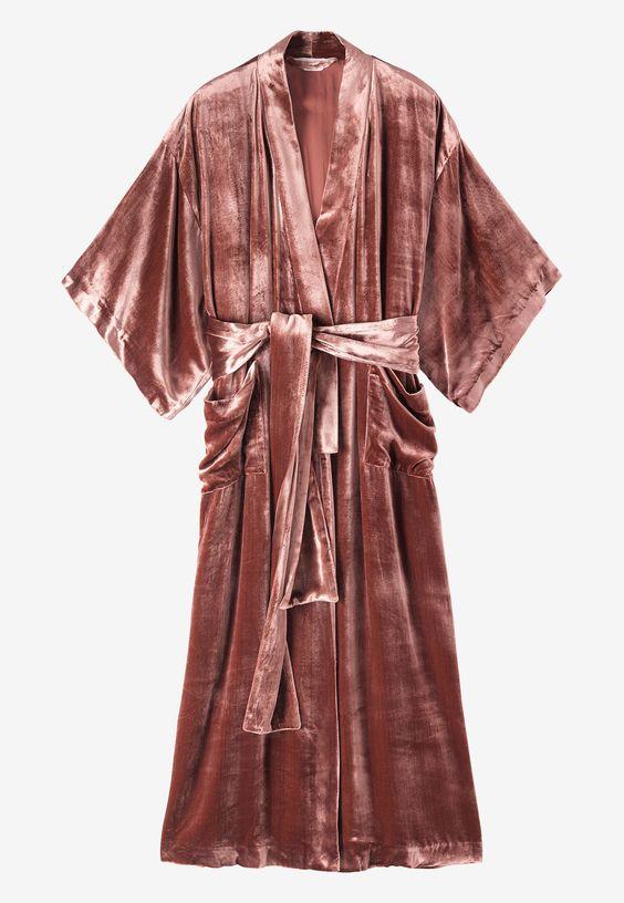 Silk velvet kimono £285  Toast
