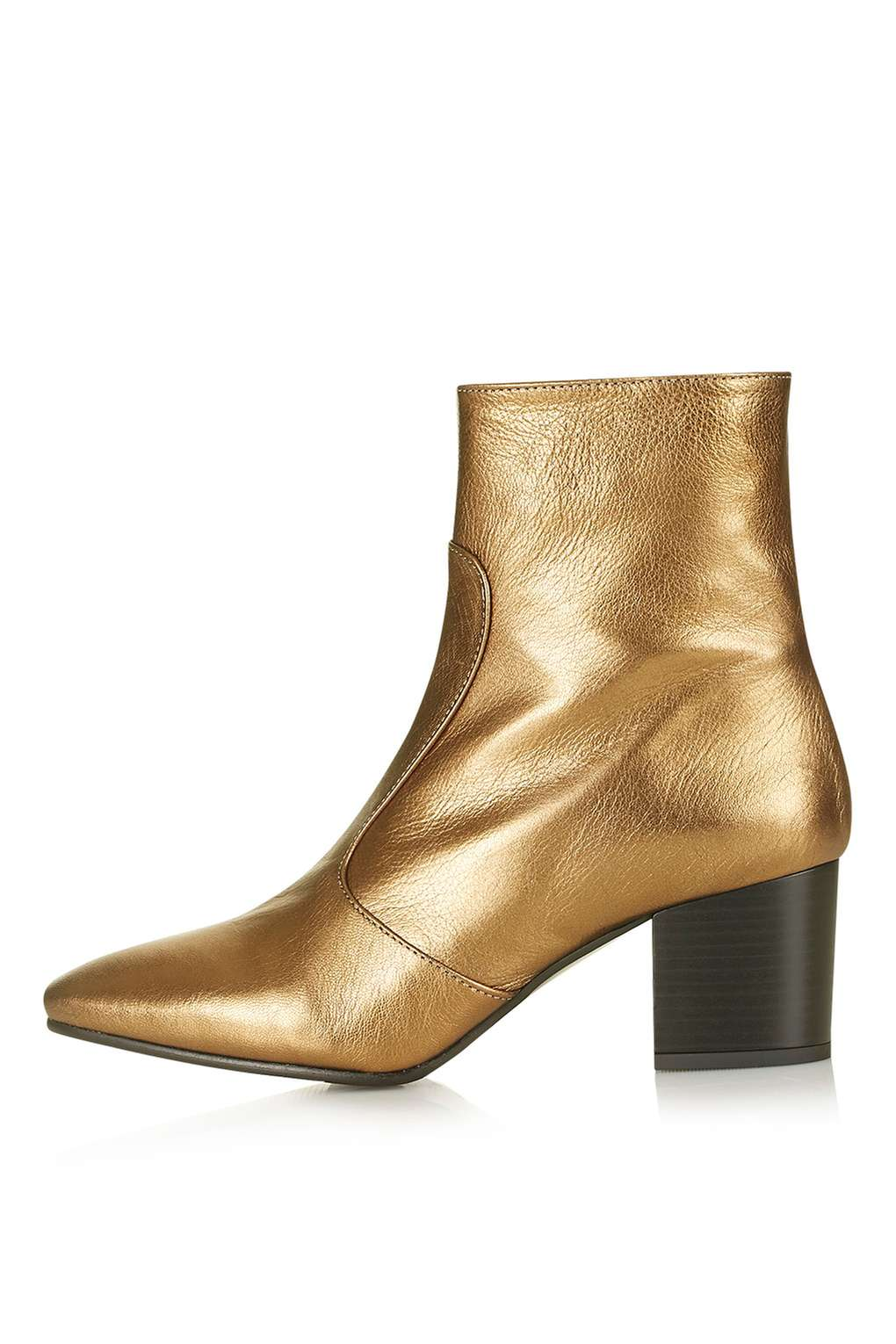 Gold metallic ankle boots £75  Top Shop