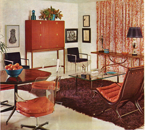 A classic David Hicks designed living space