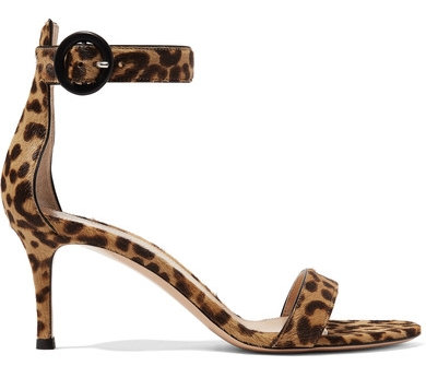 Leopard print sandals  Gianvito Rossi from Net-A-Porter