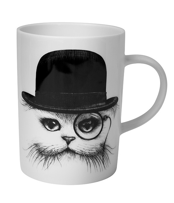 Cat in a Hat china Mug £16.50  www.amara.com