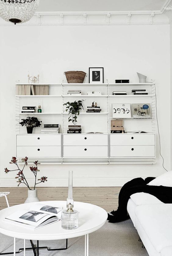 White string shelving and wall panels available from  www.skandium.com
