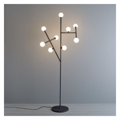 Astrid  black metal and glass floorlamp £295