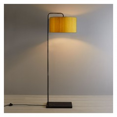 Marbelle  floor lamp with yellow silk shade £190