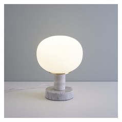 Kuriko  marble and gold table lamp £140