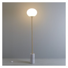 Kuriko  marble and gold floor lamp £250