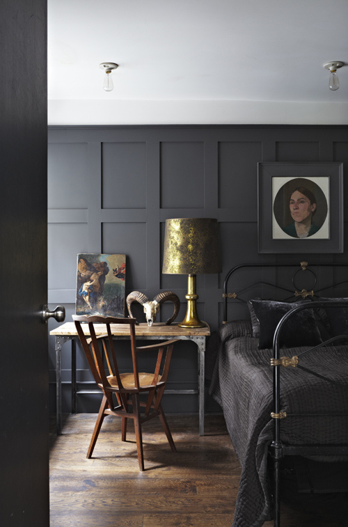 Paneling in Farrow and Ball  Railings