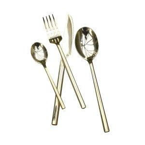 Luxury brass cutlery, £120  www.ohwhatsthis.com