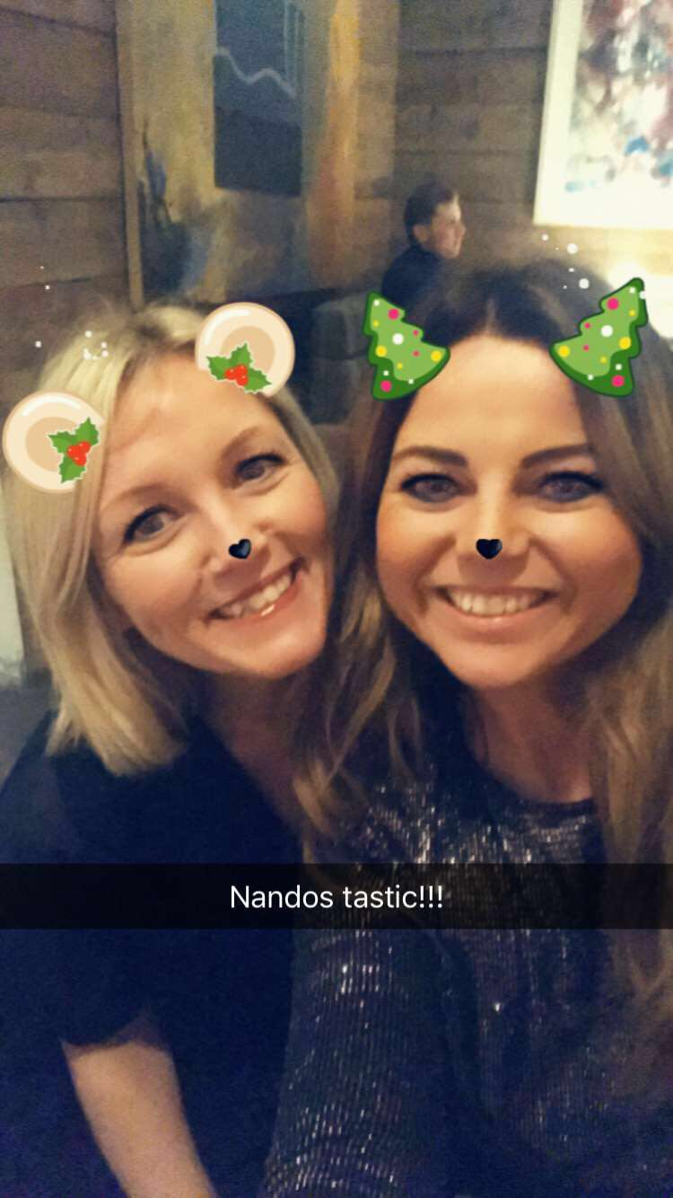 Panto dames finding everything bloody hilarious (including Snapchat filters) with the help of handbag prosecco. Henceforth the only way to panto.